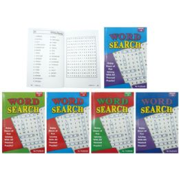 50 Units of Word Search Puzzles Book Assorted - Crosswords, Dictionaries, Puzzle books