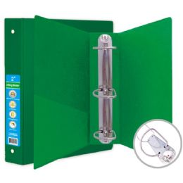 36 Units of Hard Cover Binder In Green - Clipboards and Binders