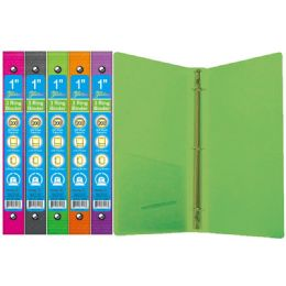 96 Units of Poly 3 Ring Binder - Clipboards and Binders