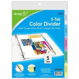 96 Units of 3 Ring Binder Dividers - Tab Dividers