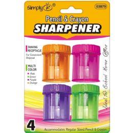 96 Units of 4 Pack Sharpener - Sharpeners