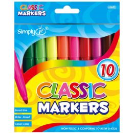96 Units of 10 Color Broad Line Jumbo - Markers