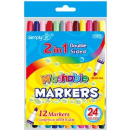 48 Units of 2 In 1 Washable Marker - Markers