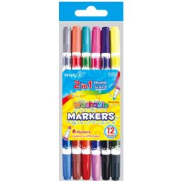 96 Units of 6 Piece Washable markers - Markers