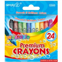 96 Units of 24 Count Washable Crayons - Crayon