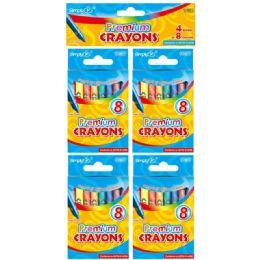 96 Units of 4 Sets Color Premium Crayon - Crayon