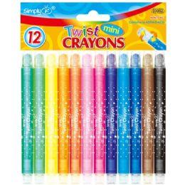 96 Units of 12 Color Mini Twist Crayon - Crayon