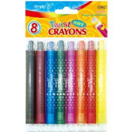 96 Units of 8 Color Mini Twist Crayon - Crayon