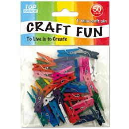 96 Units of 50 Piece Mini Colored Clip - Craft Beads