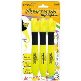 96 Units of Three Piece Fluorescent Highlighters - Markers and Highlighters