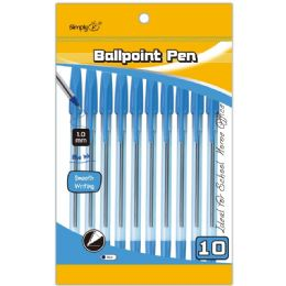 96 Units of 10 Pack Ballpoint Stick Pen - Pens