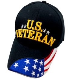 36 Units of US VETERAN Baseball Cap/Hat - Military Caps