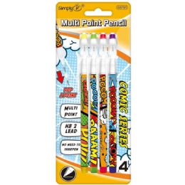 96 Units of 4 Pack Mechanical Pencil - Mechanical Pencils & Lead