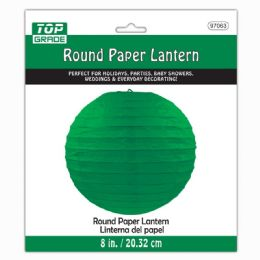 96 Units of Paper Lantern Hunter Green - Party Center Pieces
