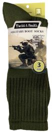 240 Units of Yacht & Smith Men's Army Socks, Military Grade Socks Size 10-13 Solid Army Green - Mens Crew Socks