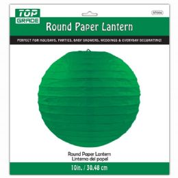 96 Units of Paper Lantern 12 Inch Hunter Green - Party Center Pieces