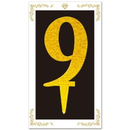 144 Units of Cake Topper Gold Number 9 - Birthday Candles