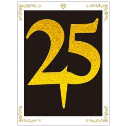 120 Units of Cake Topper Gold Number 25 - Birthday Candles