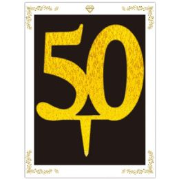 120 Units of Cake Topper Gold Number 50 - Birthday Candles