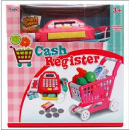"6 Units of Digital Cash Register with 9.25"" Cart - Toy Sets"