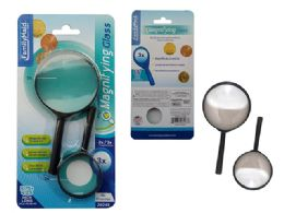 72 Units of 2 Piece Magnifying Glass - Magnifying  Glasses