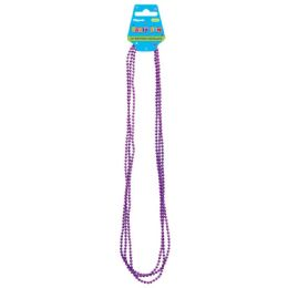 96 Units of 6 Count Necklace In Purple - Party Necklaces & Bracelets