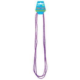 96 Units of 4 Count Necklace In Purple - Party Necklaces & Bracelets