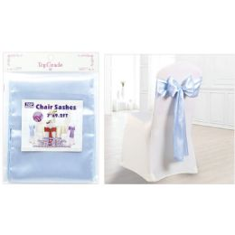120 Units of Chair Sashes Light Blue - Party Center Pieces