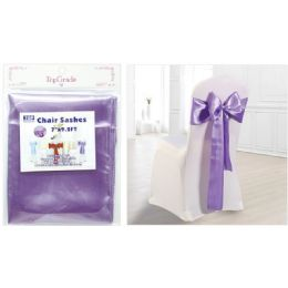 120 Units of Chair Sashes Lavender - Party Center Pieces
