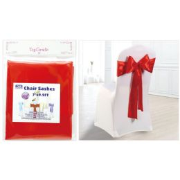 120 Units of Chair Sashes Red - Party Center Pieces