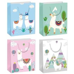 144 Units of Llama Gift Bag Large - Gift Bags Hologram