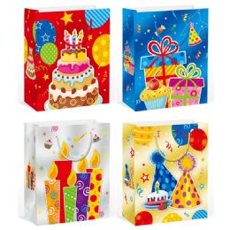 144 Units of Birthday Bag Large - Gift Bags Assorted