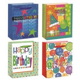 144 Units of Birthday Gift Bag Extra Large - Gift Bags Everyday