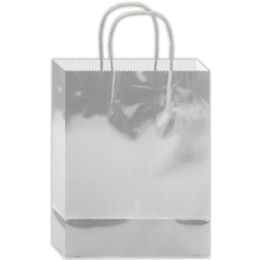 180 Units of Everyday Gift Bag Silver Size Medium - Gift Bags Everyday
