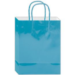 180 Units of Everyday Gift Bag Aqua Size Medium - Gift Bags Everyday
