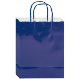 180 Units of Everyday Glossy Gift Bag Royal Blue Size Small - Gift Bags Everyday