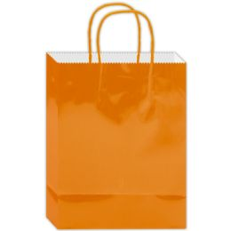 180 Units of Everyday Glossy Gift Bag Orange Size Small - Gift Bags Everyday