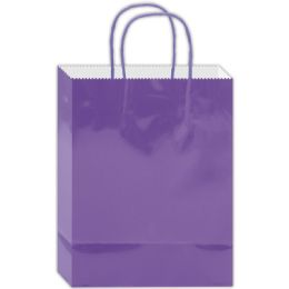 180 Units of Everyday Glossy Gift Bag Lavender Size Small - Gift Bags Everyday