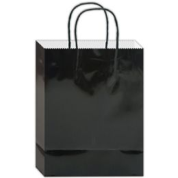 180 Units of Everyday Glossy Gift Bag Black Size Small - Gift Bags Everyday