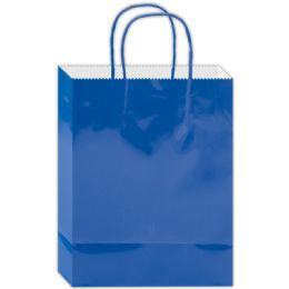 180 Units of Everyday Glossy Gift Bag Blue Size Small - Gift Bags Everyday
