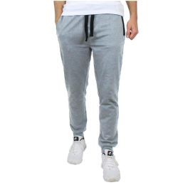 24 Units of Men's Slim-Fit French Terry Joggers Solid Heather Assorted Sizes S-XXL - Mens Pants