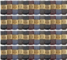 48 Units of Yacht & Smith Mens Thermal Gripper Bottom Winter Socks, Warm Cold Resistant Bulk Pack - Mens Thermal Sock