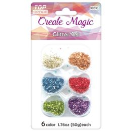 96 Units of Craft Glitter Set - Craft Beads