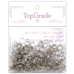 96 Units of Do It Yourself Ring Silver - Craft Stems