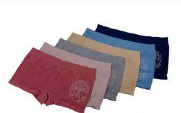 36 Units of Lady's Seamless Boxer w/ Rhinestone - Womens Panties & Underwear