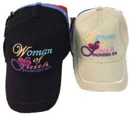 24 Units of Woman of Faith hat - Hats With Sayings