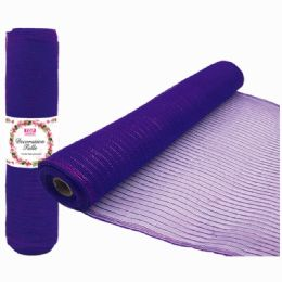25 Units of Tulle Roll Purple - Sewing Supplies