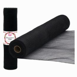48 Units of Tulle Roll Black - Sewing Supplies