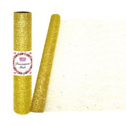 24 Units of Decoration Mesh Roll In Gold - Sewing Supplies