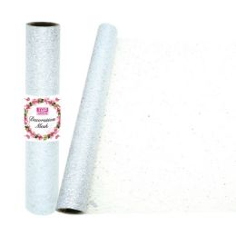 24 Units of Decoration Mesh Roll In White - Sewing Supplies